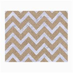 CHEVRON9 WHITE MARBLE & SAND Small Glasses Cloth (2-Side) Back