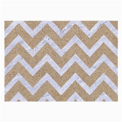 Chevron9 White Marble & Sand Large Glasses Cloth (2 Side)