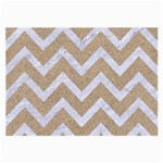 CHEVRON9 WHITE MARBLE & SAND Large Glasses Cloth (2-Side) Front