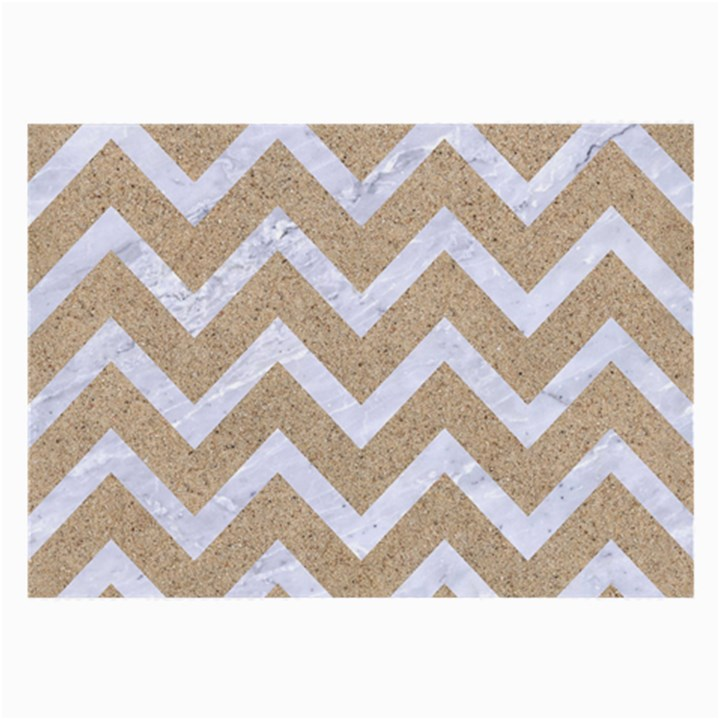 CHEVRON9 WHITE MARBLE & SAND Large Glasses Cloth (2-Side)