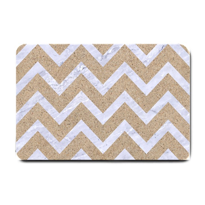 CHEVRON9 WHITE MARBLE & SAND Small Doormat