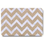 CHEVRON9 WHITE MARBLE & SAND Large Doormat  30 x20 Door Mat - 1
