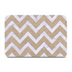 CHEVRON9 WHITE MARBLE & SAND Plate Mats 18 x12 Plate Mat - 1