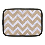 CHEVRON9 WHITE MARBLE & SAND Netbook Case (Medium)  Front