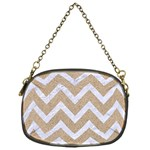 CHEVRON9 WHITE MARBLE & SAND Chain Purses (One Side)  Front