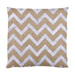 CHEVRON9 WHITE MARBLE & SAND Standard Cushion Case (One Side) Front