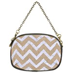 CHEVRON9 WHITE MARBLE & SAND Chain Purses (Two Sides)  Front