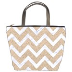 CHEVRON9 WHITE MARBLE & SAND Bucket Bags Front