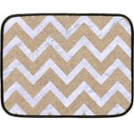 CHEVRON9 WHITE MARBLE & SAND Fleece Blanket (Mini) 35 x27 Blanket