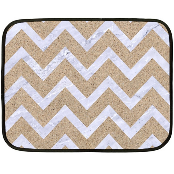 CHEVRON9 WHITE MARBLE & SAND Fleece Blanket (Mini)