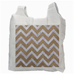 CHEVRON9 WHITE MARBLE & SAND Recycle Bag (Two Side)  Back