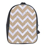 CHEVRON9 WHITE MARBLE & SAND School Bag (Large) Front