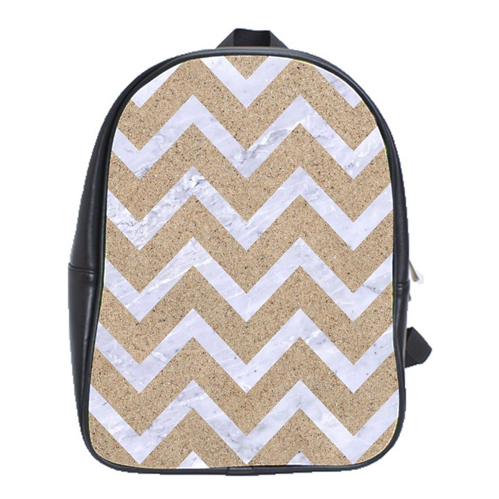 CHEVRON9 WHITE MARBLE & SAND School Bag (Large)