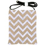 CHEVRON9 WHITE MARBLE & SAND Shoulder Sling Bags Front