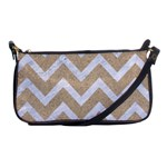 CHEVRON9 WHITE MARBLE & SAND Shoulder Clutch Bags Front