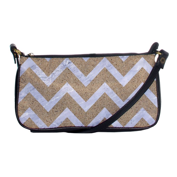 CHEVRON9 WHITE MARBLE & SAND Shoulder Clutch Bags
