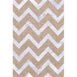 CHEVRON9 WHITE MARBLE & SAND 5.5  x 8.5  Notebooks Front Cover Inside