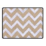 CHEVRON9 WHITE MARBLE & SAND Fleece Blanket (Small) 50 x40 Blanket Front