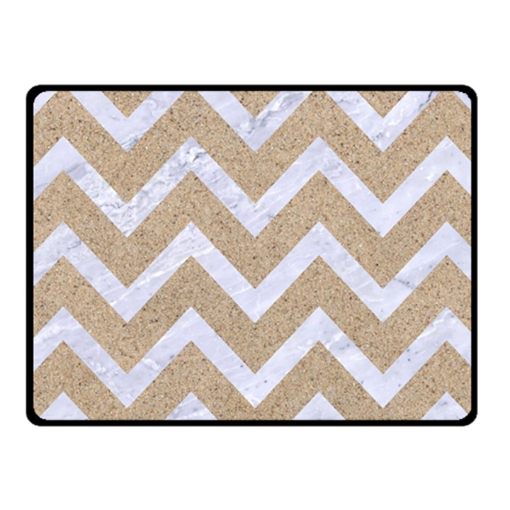 CHEVRON9 WHITE MARBLE & SAND Fleece Blanket (Small)