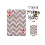 CHEVRON9 WHITE MARBLE & SAND Playing Cards 54 (Mini)  Front - Heart10