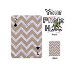 CHEVRON9 WHITE MARBLE & SAND Playing Cards 54 (Mini)  Front - Spade7