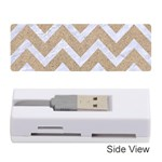 CHEVRON9 WHITE MARBLE & SAND Memory Card Reader (Stick)  Front