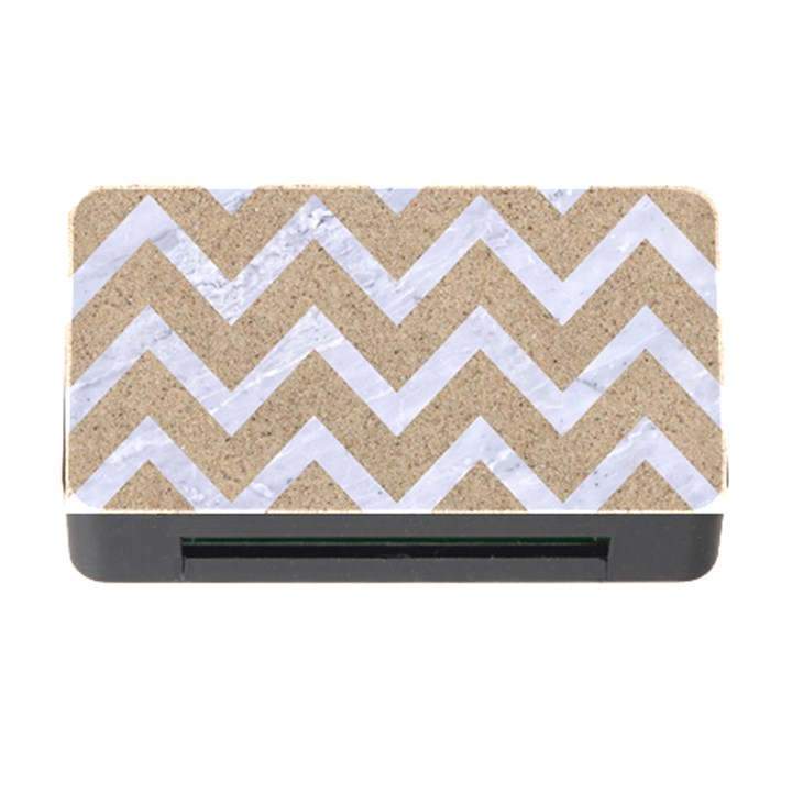 CHEVRON9 WHITE MARBLE & SAND Memory Card Reader with CF