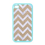 CHEVRON9 WHITE MARBLE & SAND Apple iPhone 4 Case (Color) Front