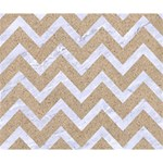 CHEVRON9 WHITE MARBLE & SAND Deluxe Canvas 14  x 11  14  x 11  x 1.5  Stretched Canvas
