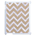 CHEVRON9 WHITE MARBLE & SAND Apple iPad 2 Case (White) Front