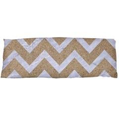 Chevron9 White Marble & Sand Body Pillow Case Dakimakura (two Sides)