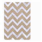CHEVRON9 WHITE MARBLE & SAND Large Garden Flag (Two Sides) Back