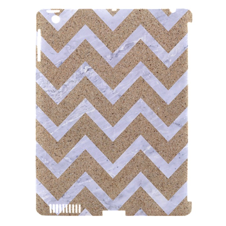 CHEVRON9 WHITE MARBLE & SAND Apple iPad 3/4 Hardshell Case (Compatible with Smart Cover)