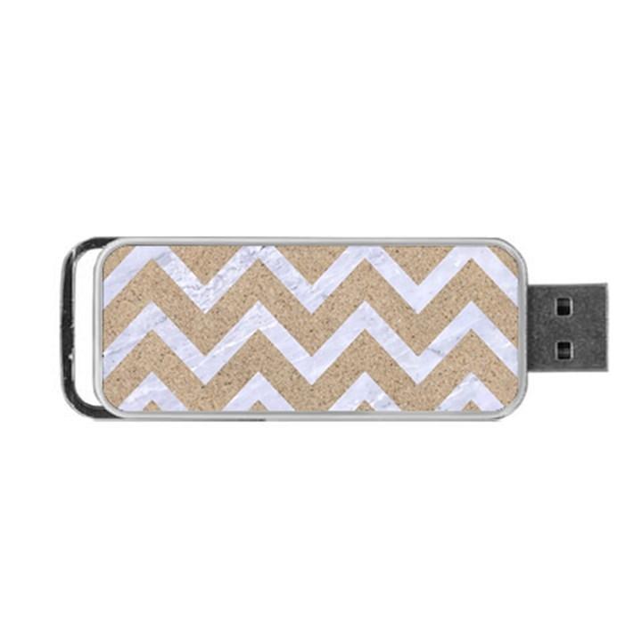 CHEVRON9 WHITE MARBLE & SAND Portable USB Flash (Two Sides)