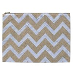 CHEVRON9 WHITE MARBLE & SAND Cosmetic Bag (XXL)  Front