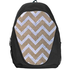 Chevron9 White Marble & Sand Backpack Bag
