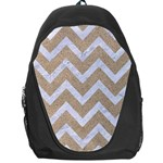 CHEVRON9 WHITE MARBLE & SAND Backpack Bag Front