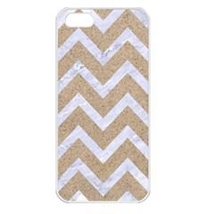 Chevron9 White Marble & Sand Apple Iphone 5 Seamless Case (white)