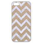 CHEVRON9 WHITE MARBLE & SAND Apple Seamless iPhone 5 Case (Clear) Front