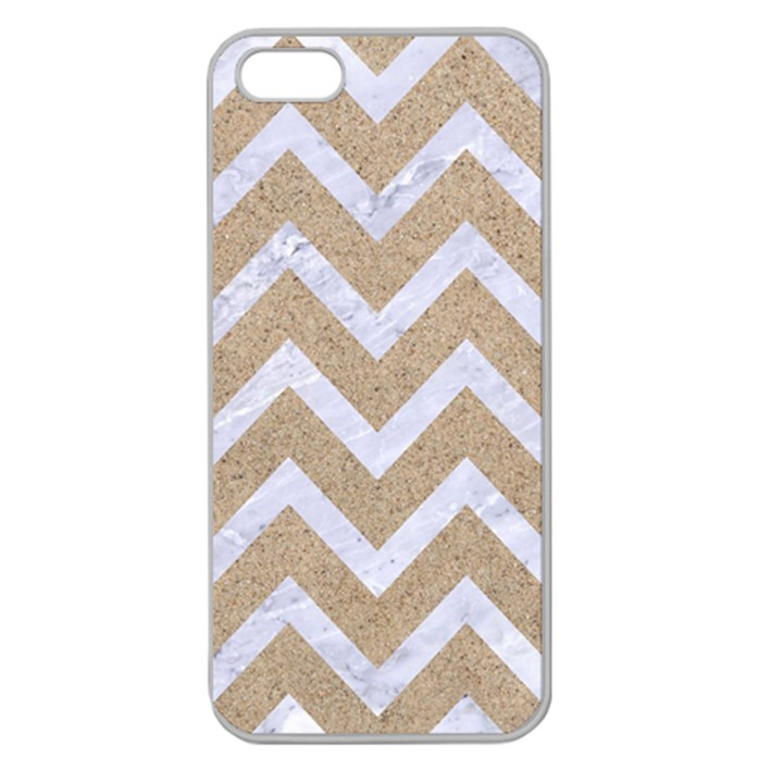 CHEVRON9 WHITE MARBLE & SAND Apple Seamless iPhone 5 Case (Clear)