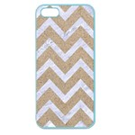 CHEVRON9 WHITE MARBLE & SAND Apple Seamless iPhone 5 Case (Color) Front