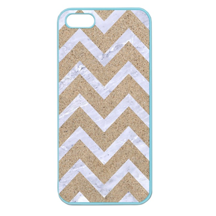 CHEVRON9 WHITE MARBLE & SAND Apple Seamless iPhone 5 Case (Color)