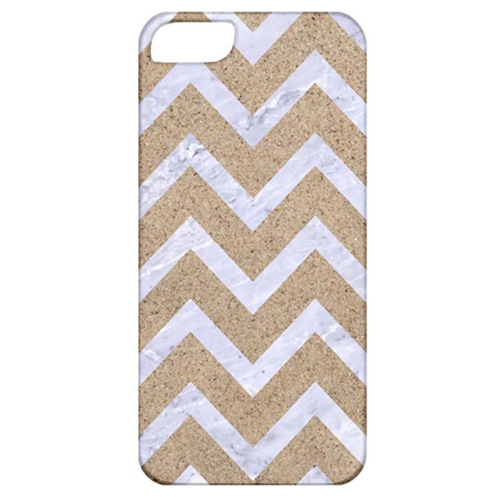 CHEVRON9 WHITE MARBLE & SAND Apple iPhone 5 Classic Hardshell Case