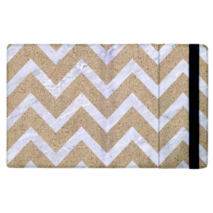 CHEVRON9 WHITE MARBLE & SAND Apple iPad 3/4 Flip Case