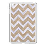 CHEVRON9 WHITE MARBLE & SAND Apple iPad Mini Case (White) Front