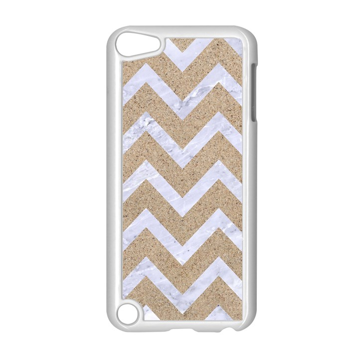 CHEVRON9 WHITE MARBLE & SAND Apple iPod Touch 5 Case (White)