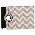 CHEVRON9 WHITE MARBLE & SAND Kindle Fire HD 7  Front
