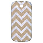 CHEVRON9 WHITE MARBLE & SAND Samsung Galaxy S3 S III Classic Hardshell Back Case Front