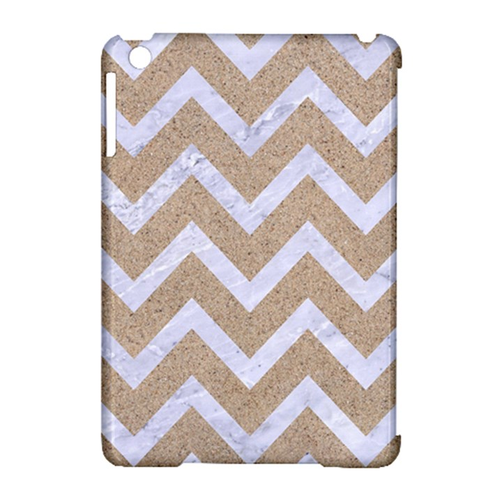 CHEVRON9 WHITE MARBLE & SAND Apple iPad Mini Hardshell Case (Compatible with Smart Cover)