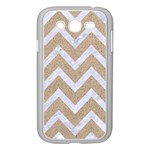 CHEVRON9 WHITE MARBLE & SAND Samsung Galaxy Grand DUOS I9082 Case (White) Front